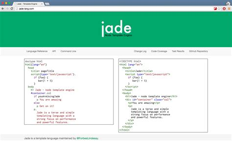 jade template strongloop comparing javascript templating engines jade