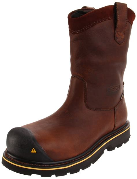 mens steel toed boots keen mens dallas wellington steel toe work boot in brown