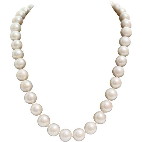 pearl collar pearl collar necklace white cultured vintage 14k yellow gold pink from