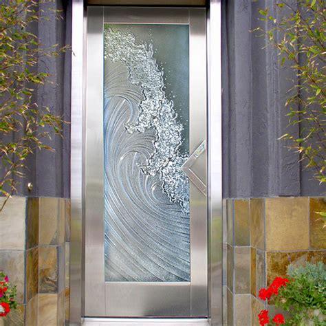 Shower Bath Combination entry door beach style san diego by cast glass