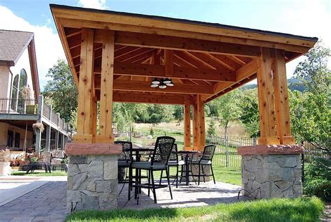 pergola pavillon plan for an easy 16 x 20 diy solid wood pergola or