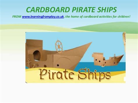 cardboard pirate ship template cardboard pirate ship