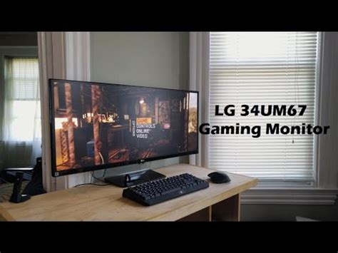 lg 34um67 21:9 ultrawide gaming monitor review youtube