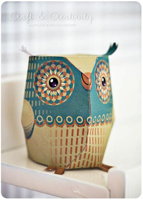 Paper Owls Crafts - dagens pyssel pappersuggla craft of the day paper owl