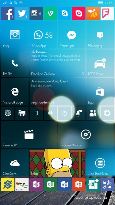 mobile change home screen on windows 10 mobile change fonts windowsmotion