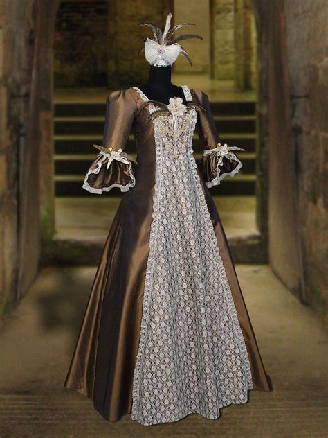 Handmade Renaissance Costumes - renaissance costume style dress fur clothing