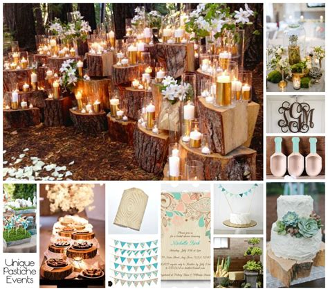 wood grain spring wedding ideas unique pastiche