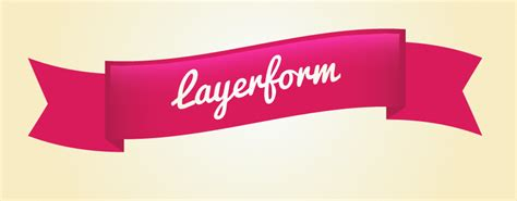 typography ribbon tutorial create a ribbon in adobe illustrator layerform design