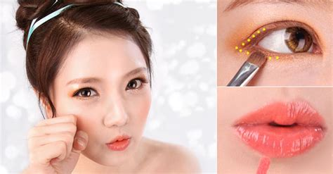 Eyeshadow Orang Korea orange makeup korean mugeek vidalondon
