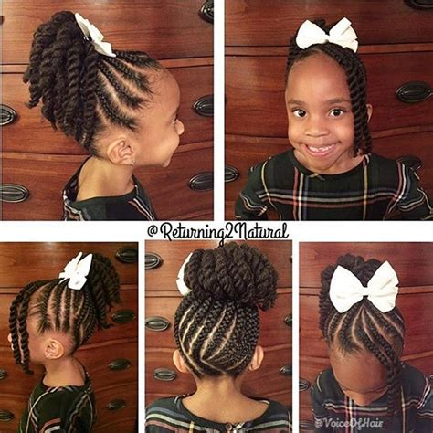 short braid and ponytails designs kids this braid and twist ponytail is too cute by