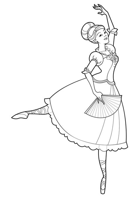 Free Printable Ballet Coloring Pages For Kids Ballerina Colouring Page