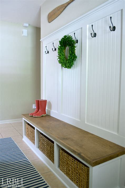 entryway bench diy diy entryway mudroom reveal