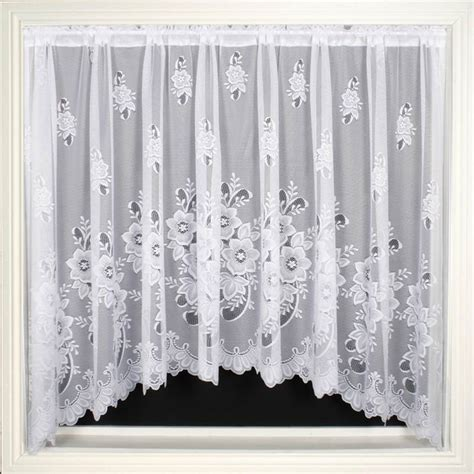 luxury lace curtains luxury net curtain jardiniere ready made white lace