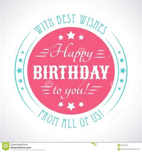 typography happy birthday happy birthday card typography letters font type stock vector image 43402021