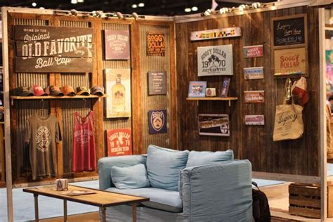 home design expo legacy a maker of apparel headwear and home decor surrounded its booth with barn wood planks