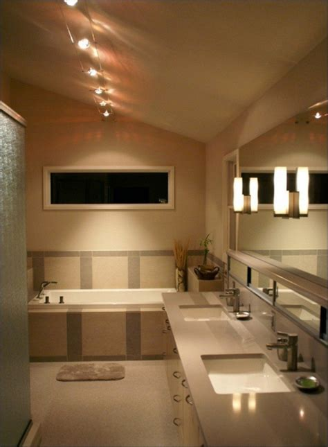beautiful track lighting track lighting in bathroom lighting ideas