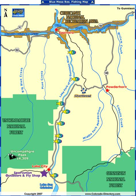 southwest colorado fly fishing map lake city fishing map colorado vacation directory