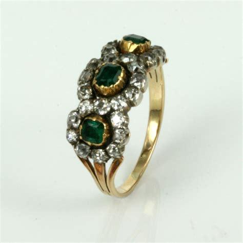 buy antique georgian era emerald and ring sold