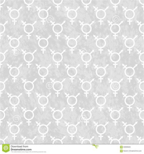 tile pattern repeat gray and white transgender symbol tile pattern repeat