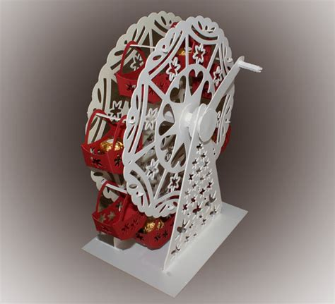 turning wheel card template 3d svg turning ferris wheel with treat baskets