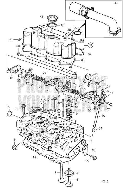 volvo penta marine parts diagram volvo penta exploded view schematic cylinder md2030