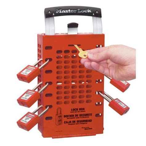 master cadenassage master lock portable wall red group lock box loto