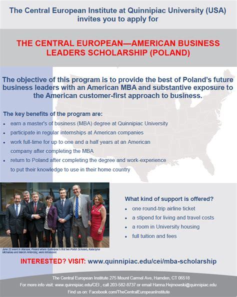 Central European Mba ii edycja programu stypendialnego programu stypendialnego