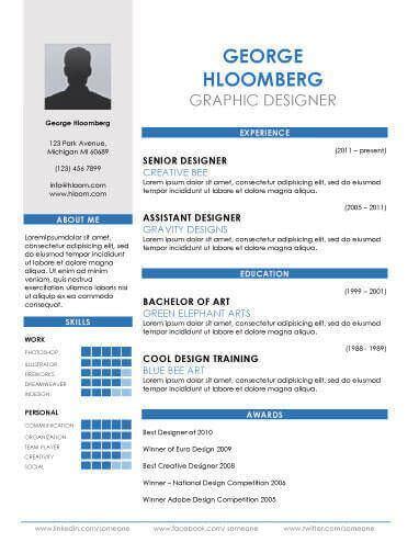 infographic resume templates download free premium templates