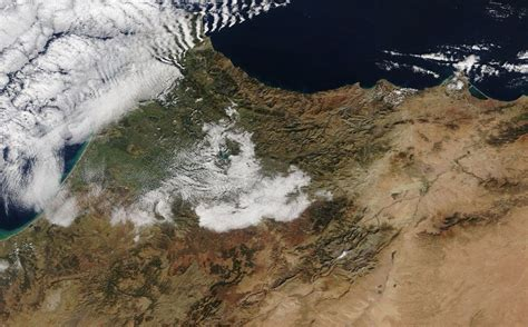 snow in sahara cold snap brings snowfall to the sahara desert for the