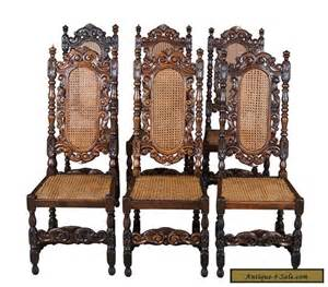 Antique Dining Chairs For Sale Set Of Six Antique Carved Oak Dining Chairs Seats And Backs For Sale In United States