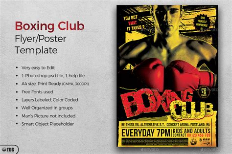 Fight Night Flyer Template V1 By Lou606 Graphicriver Fight Poster Template