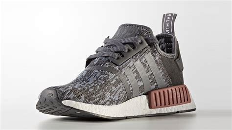 adidas originals nmd  women grey heather raw pink