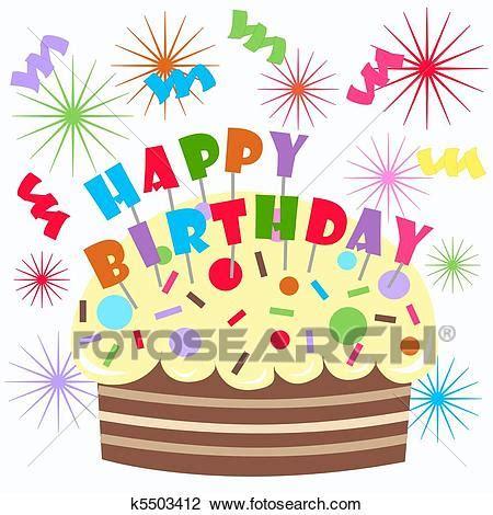 clipart buon compleanno clip buon compleanno k5503412 cerca clipart