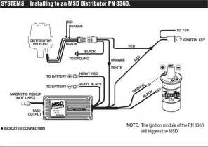msd chevy hei distributor wiring diagram msd chevrolet