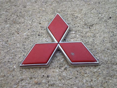 Emblem Logo Mitsubishi Lingkaran Padi Chrome oem factory genuine stock mitsubishi rear emblem badge galant eclipse ebay