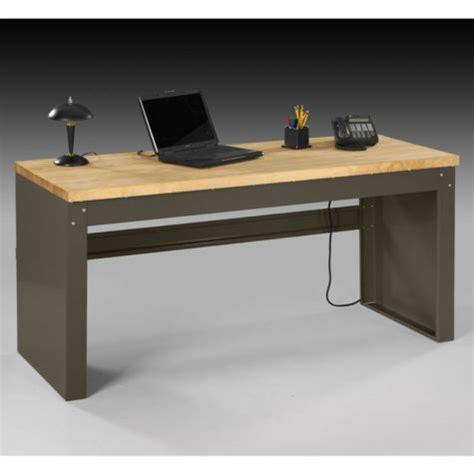Steel Top Desk by Heavy Duty Steel Desk Wood Top Ofg Ds0048