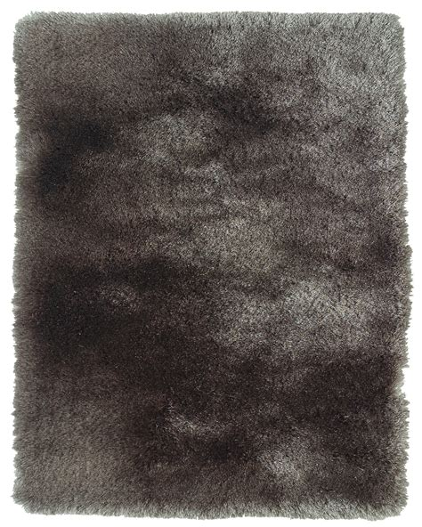 Silk Shag Rugs by Plush Collection Silk Shag Area Rug In Gray By Bd