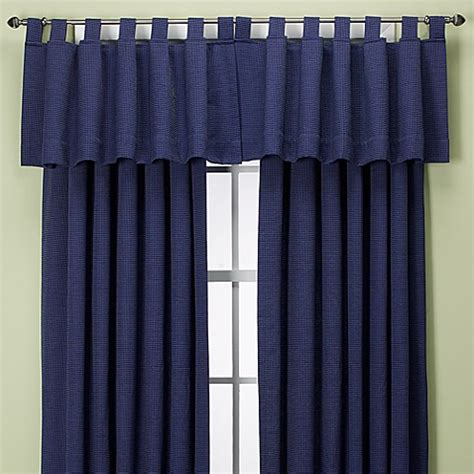 bed bath and beyond union square buy union square tab top window valance in indigo from bed