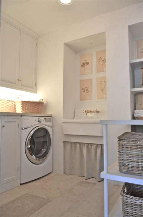 Sink For Laundry Room Giannetti Home Laundry Mud Rooms Cabinet Lighting Woven Baskets Rattan Baskets