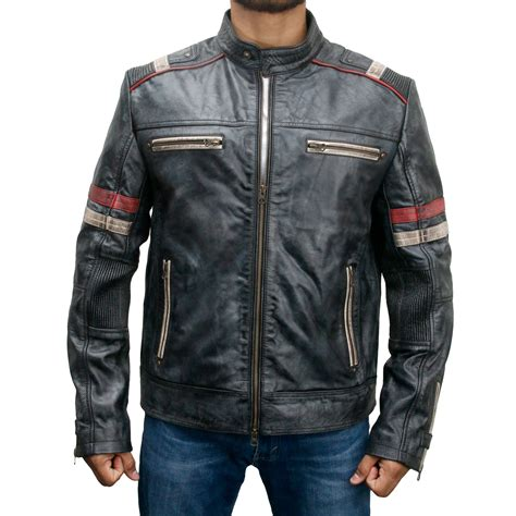moto biker jacket cafe racer vintage leather motorcycle jacket for sale
