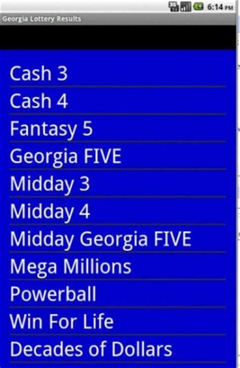 mega millions georgia winning numbers virginia lottery