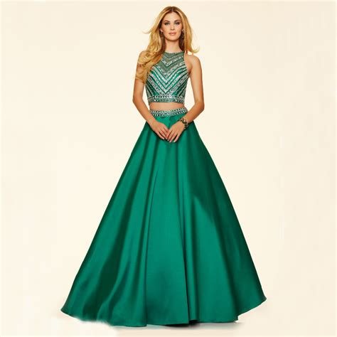 delicate beaded crop top a line two emerald