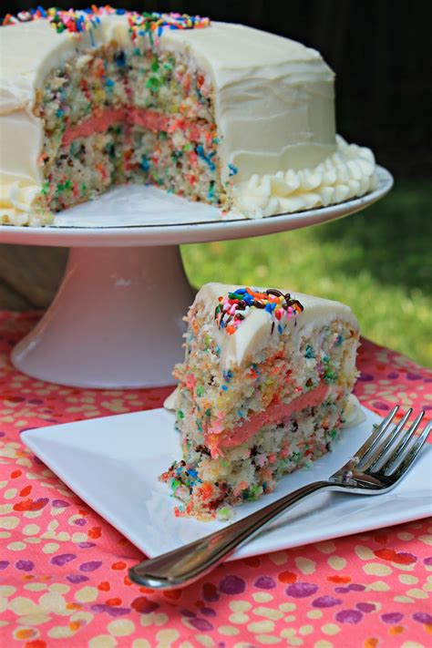 easy funfetti layered birthday cake carolina charm