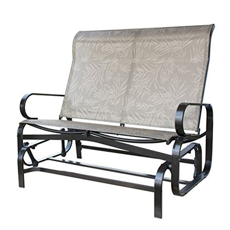 loveseat glider rocker patiopost glider bench outdoor 2 person loveseat chair