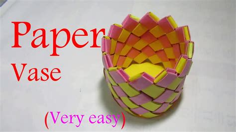 How To Make A Paper Vase - paper vase paper vase step by step