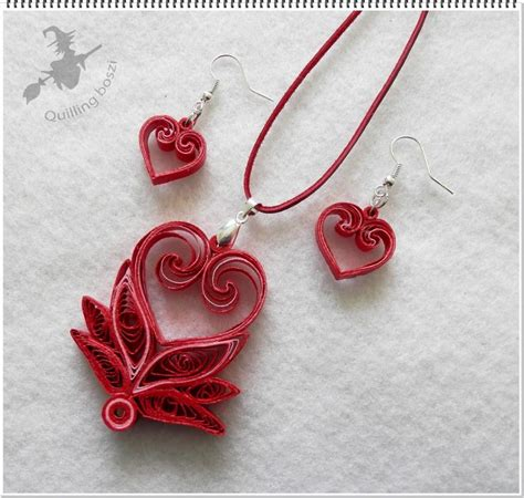 pattern for paper jewelry 393 best quilling hearts images on pinterest paper