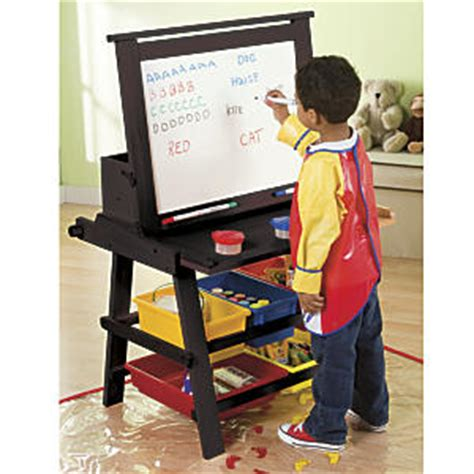 flip wood easel desk combo in espresso