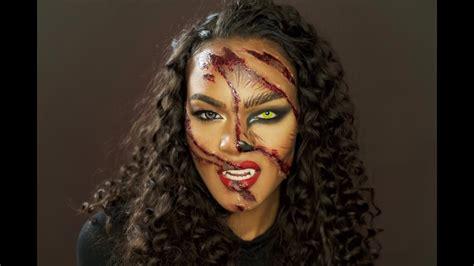 Halloween Makeup Tutorial Werewolf | clawed werewolf halloween makeup tutorial youtube