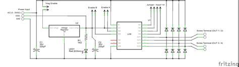 l298n circuit diagram l298n motor driver board bc robotics