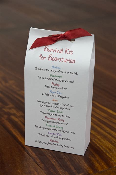 survival kit for secretaries pattern gifts u can make